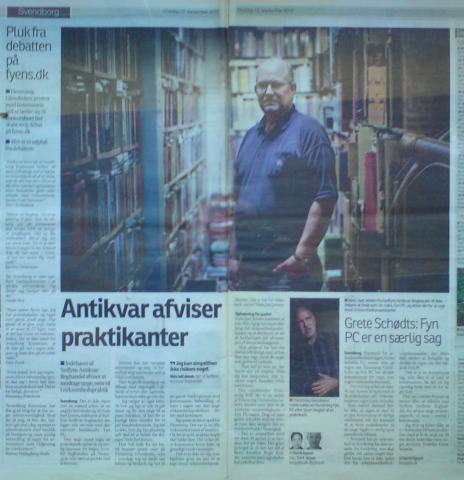 Antikvar afviser praktikanter - Grethe Schiødts: FynPC er en særlig sag